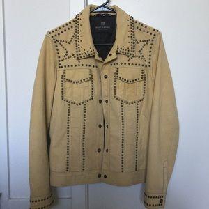 Scotch Soda Studded Leather Jacket